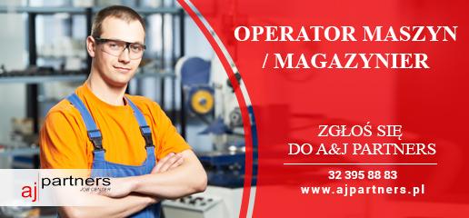 Oferta pracy - operator maszyn/ magazynier - A&J Partners